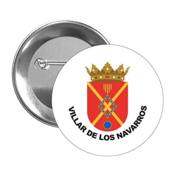 chapa escudo heraldico villar de los navarros