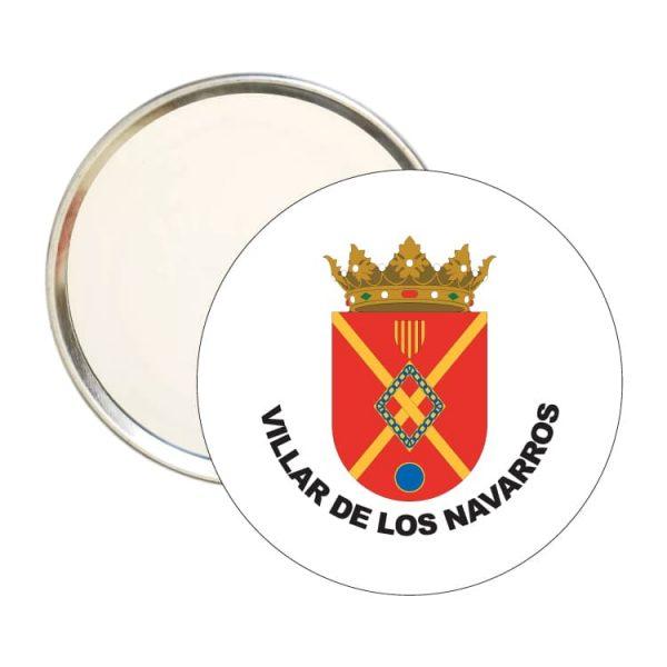 espejo redondo escudo heraldico villar de los navarros
