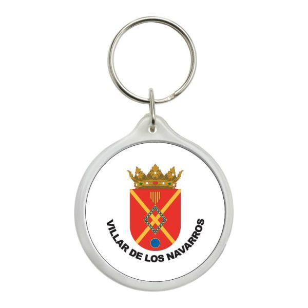 llavero redondo escudo heraldico villar de los navarros