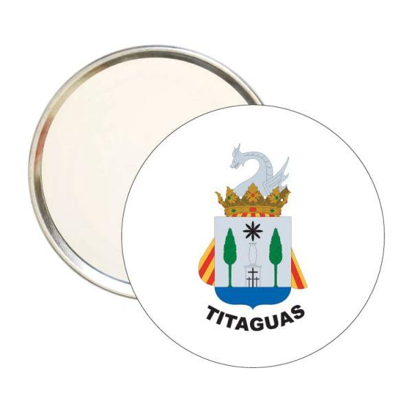 espejo redondo escudo heraldico titaguas