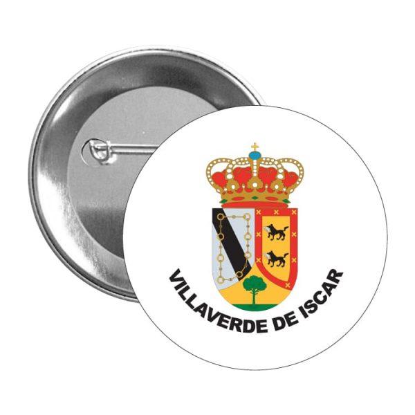 1311 chapa escudo heraldico villaverde de iscar