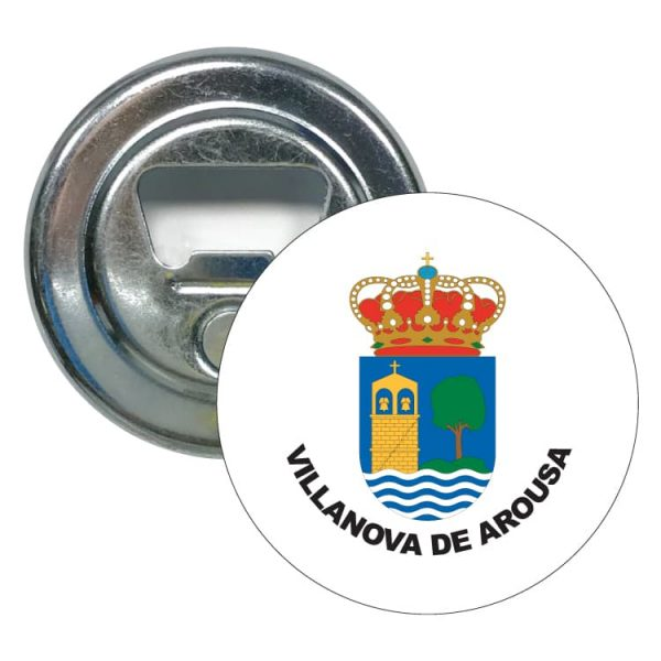 abridor redondo escudo heraldico villanova de arousa