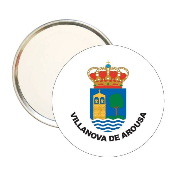 espejo redondo escudo heraldico villanova de arousa