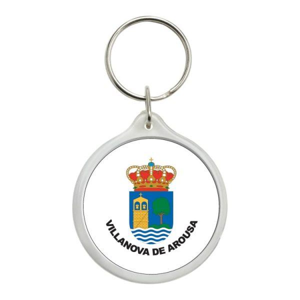 llavero redondo escudo heraldico villanova de arousa