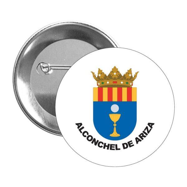 chapa escudo heraldico alconchel de ariza