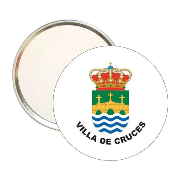 espejo redondo escudo heraldico villa de cruces