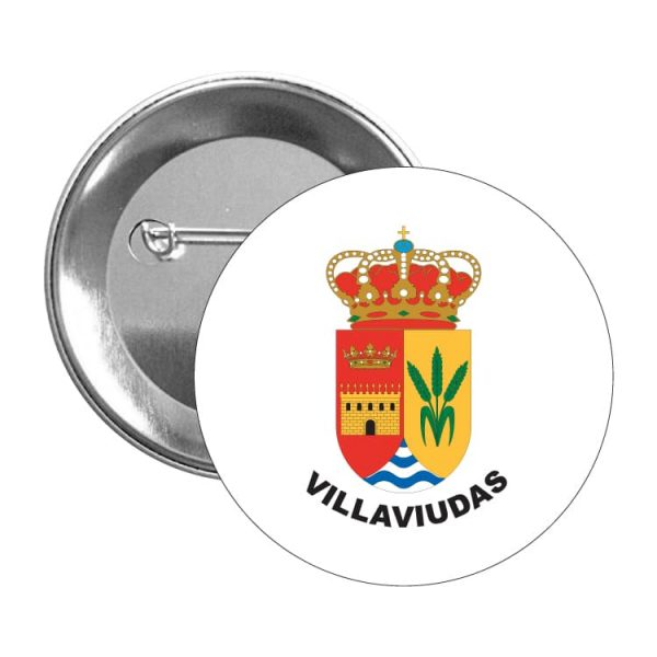1323 chapa escudo heraldico villaviudas