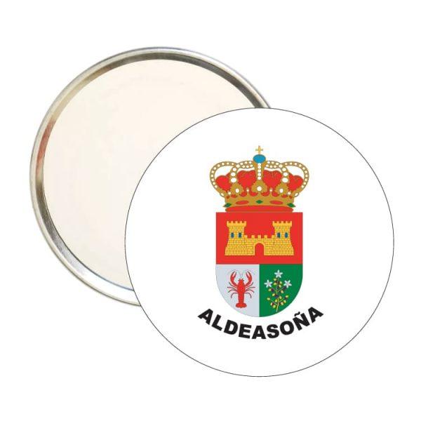 espejo redondo escudo heraldico aldeasoña