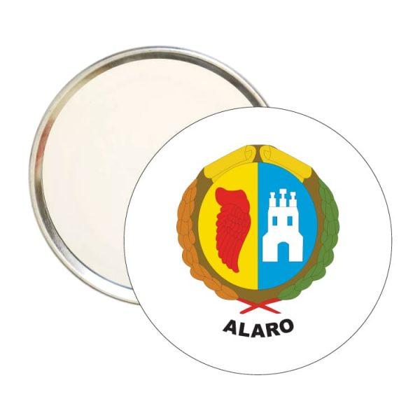 espejo redondo escudo heraldico alaro