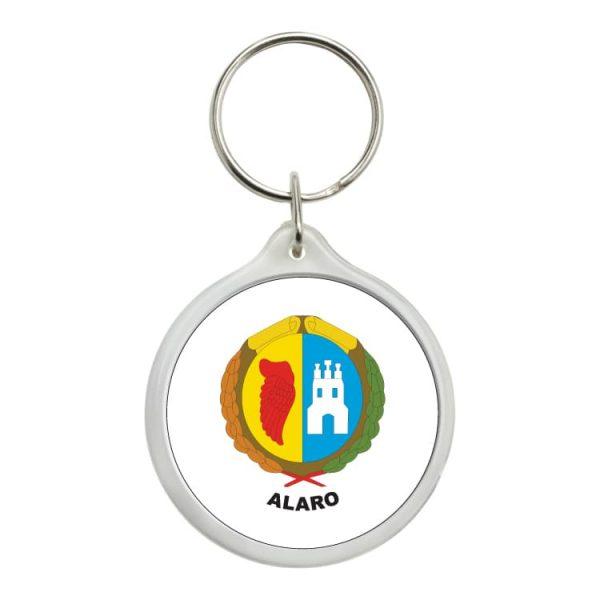 llavero redondo escudo heraldico alaro