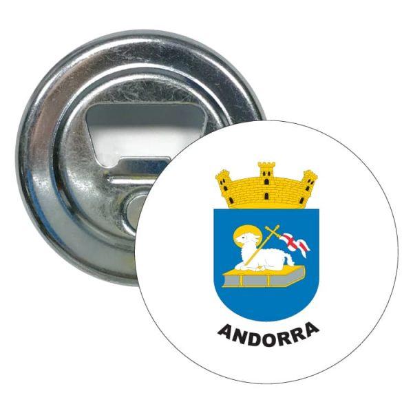 abridor redondo escudo heraldico andorra