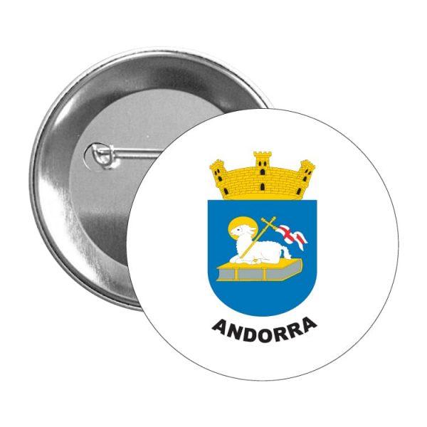 chapa escudo heraldico andorra
