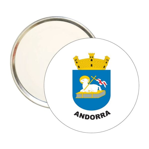 espejo redondo escudo heraldico andorra
