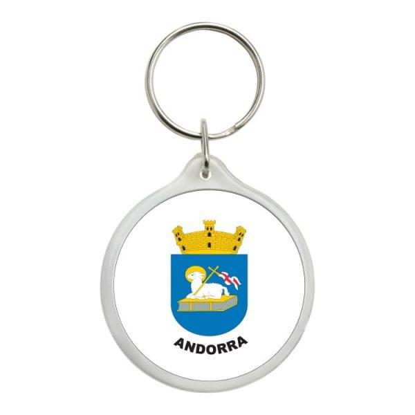 llavero redondo escudo heraldico andorra