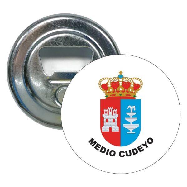 abridor redondo escudo heraldico medio cuyedo