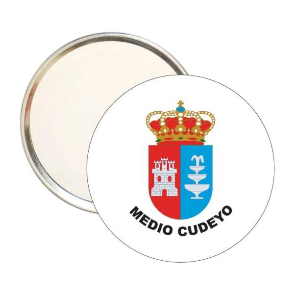 espejo redondo escudo heraldico medio cuyedo