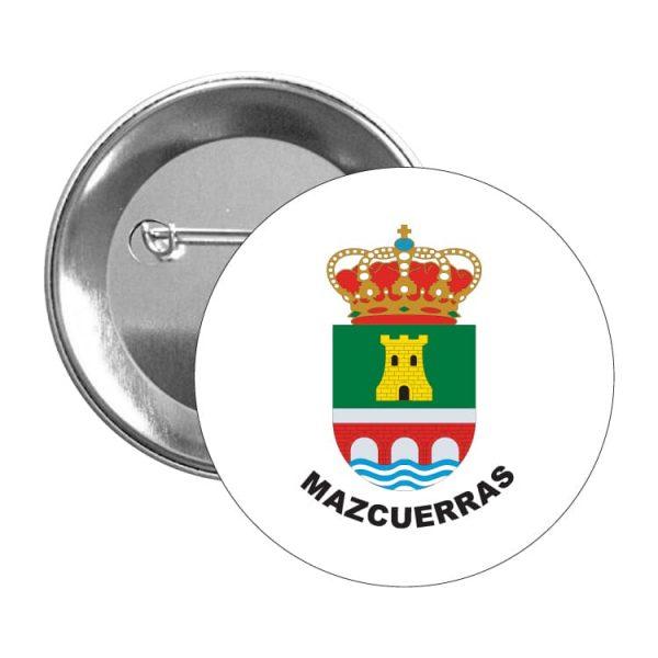 chapa escudo heraldico mazcuerras