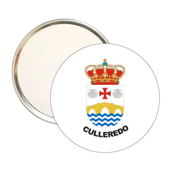 espejo redondo escudo heraldico culelredo