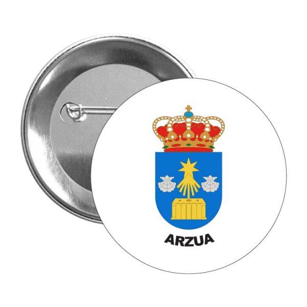 chapa escudo heraldico arzua