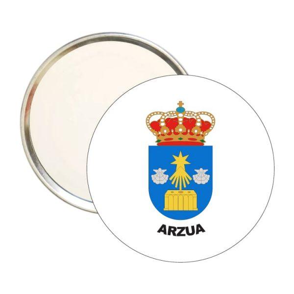 espejo redondo escudo heraldico arzua