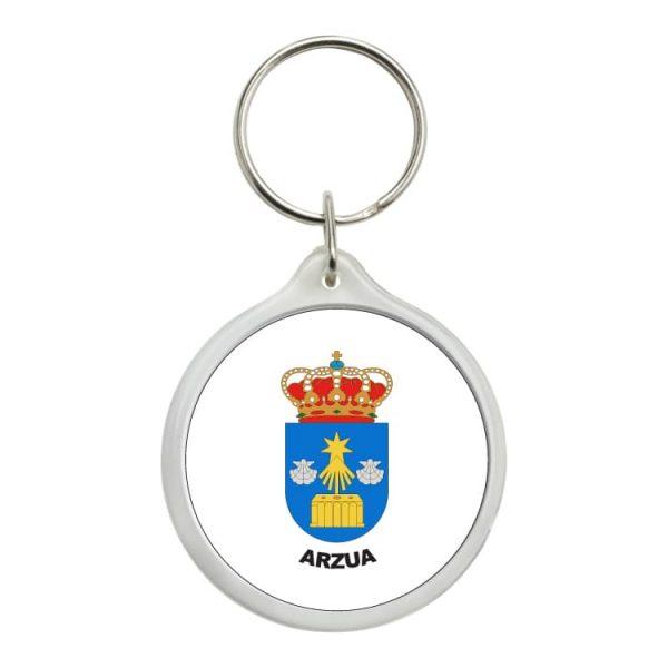 llavero redondo escudo heraldico arzua