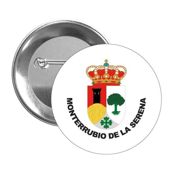 chapa escudo heraldico monterrubio de la serena