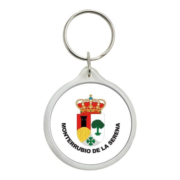llavero redondo escudo heraldico monterrubio de la serena
