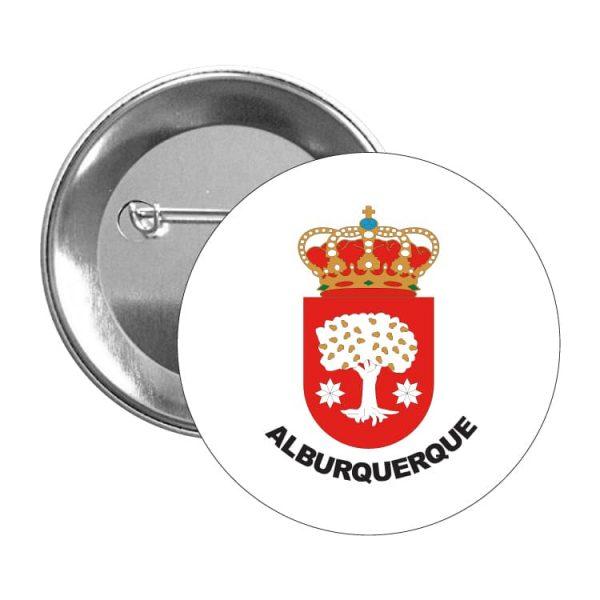 1372 chapa escudo heraldico alburquerque