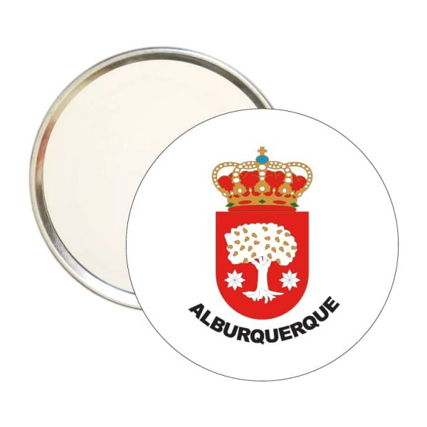 espejo redondo escudo heraldico alburquerque