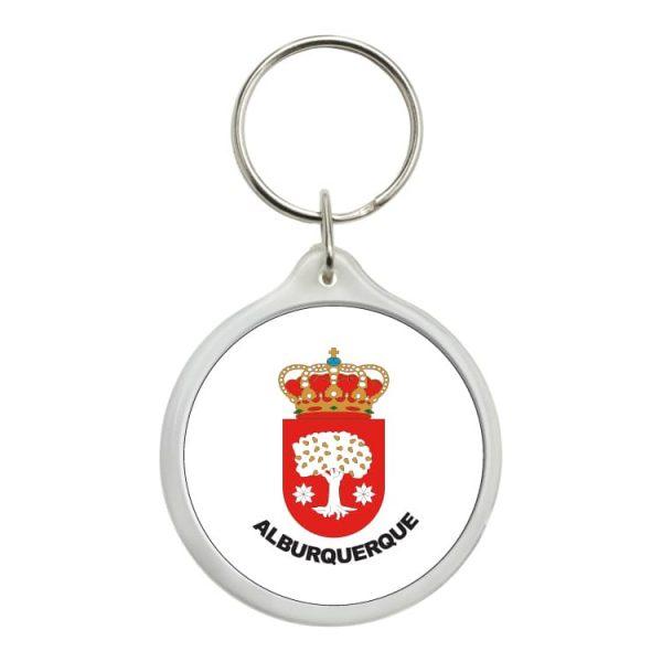 llavero redondo escudo heraldico alburquerque