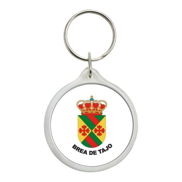 llavero redondo escudo heraldico brea de tajo