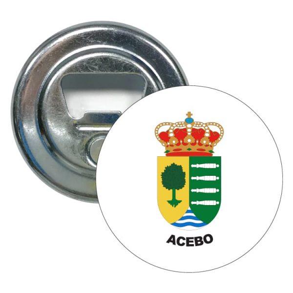 abridor redondo escudo heraldico acebo