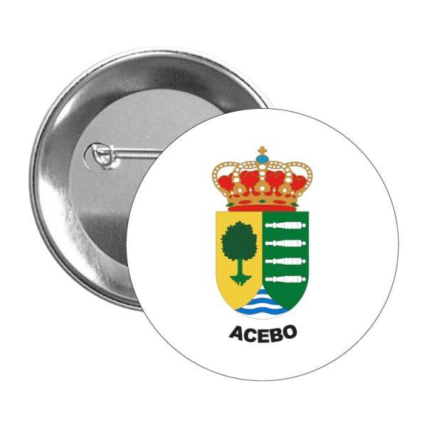 1374 chapa escudo heraldico acebo