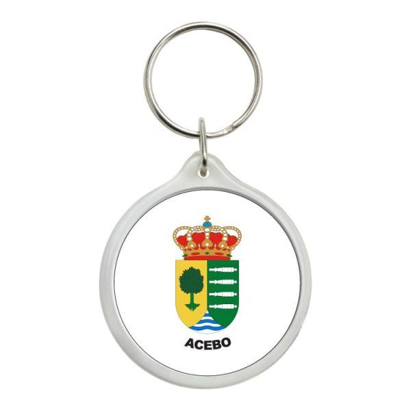 llavero redondo escudo heraldico acebo