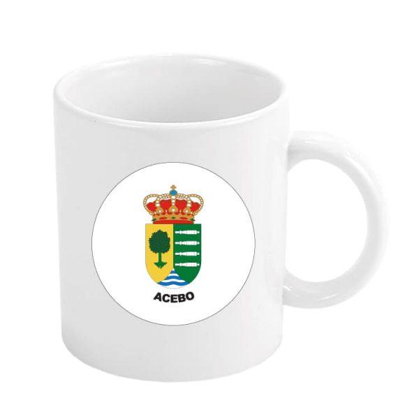1374 taza escudo heraldico acebo