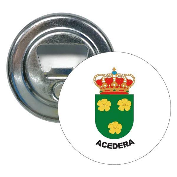 abridor redondo escudo heraldico acedera