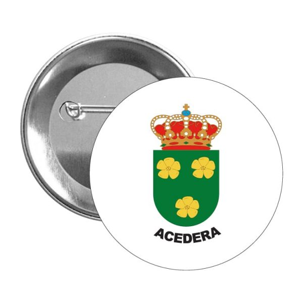 1376 chapa escudo heraldico acedera