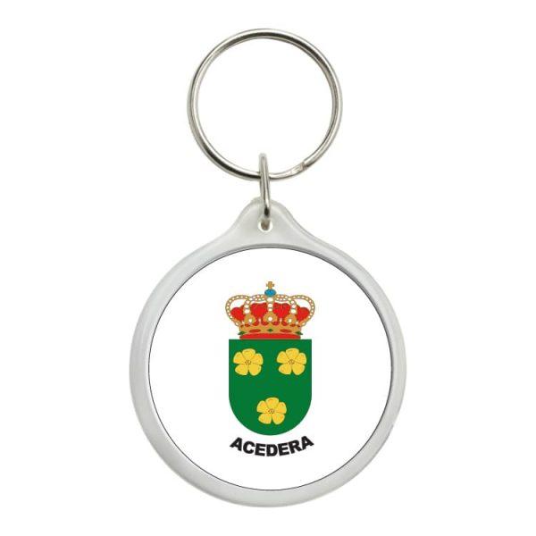 llavero redondo escudo heraldico acedera