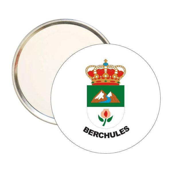 espejo redondo escudo heraldico berchules