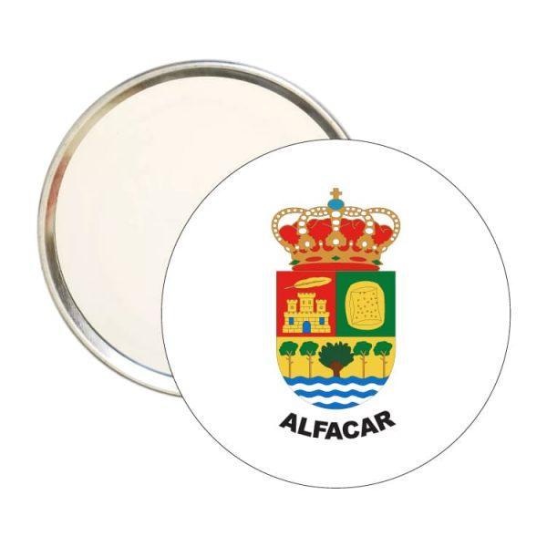 espejo redondo escudo heraldico alfacar