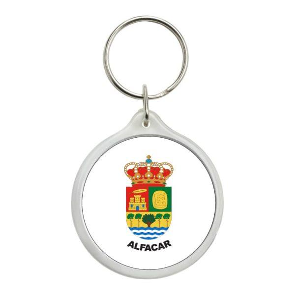 llavero redondo escudo heraldico alfacar