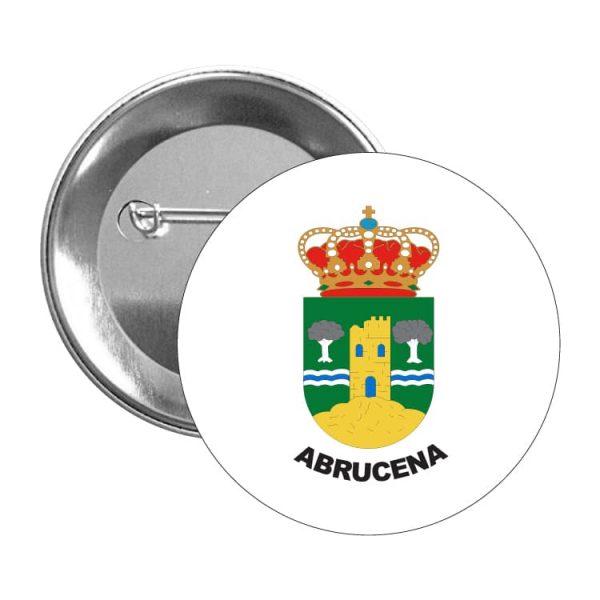 chapa escudo heraldico abrucena