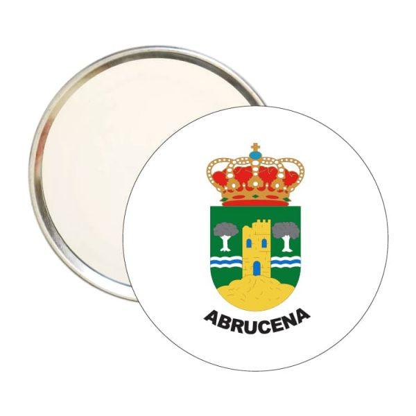 espejo redondo escudo heraldico abrucena