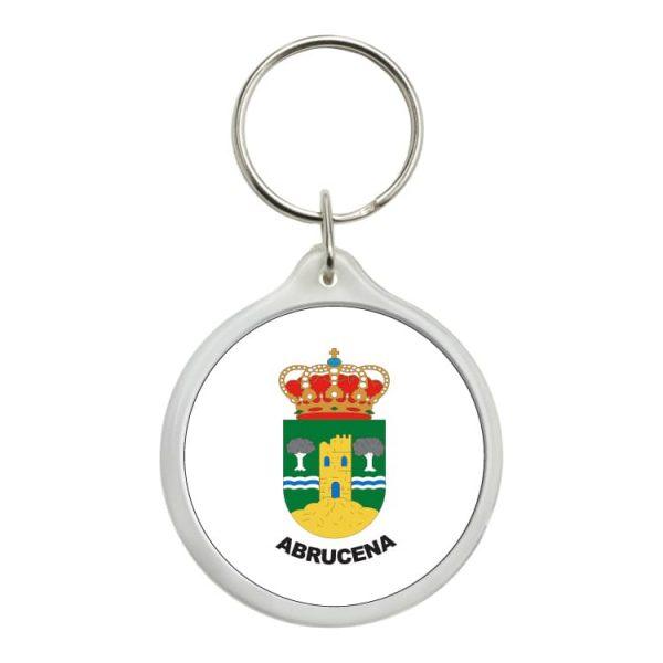 llavero redondo escudo heraldico abrucena