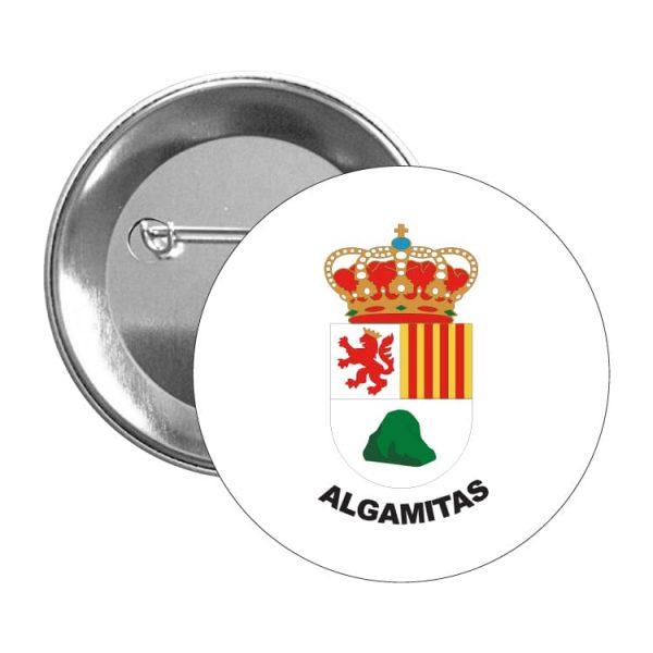 chapa escudo heraldico algamitas