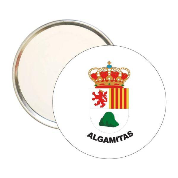 espejo redondo escudo heraldico algamitas