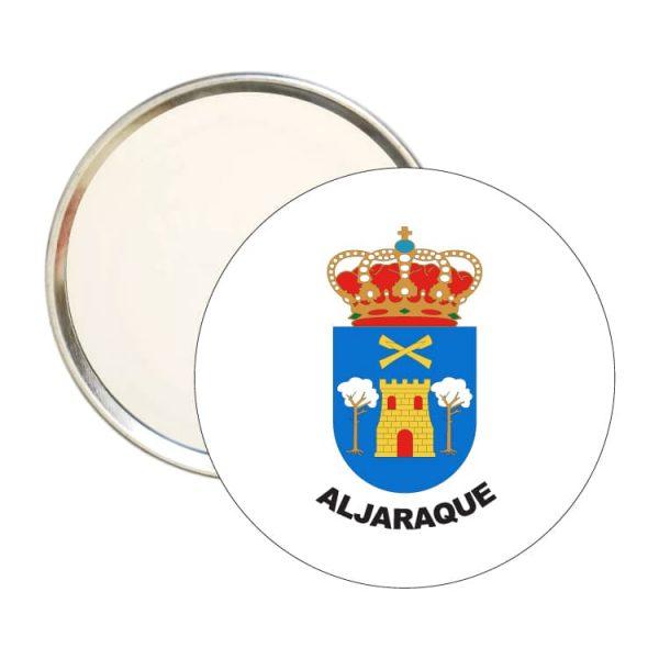 espejo redondo escudo heraldico aljaraque
