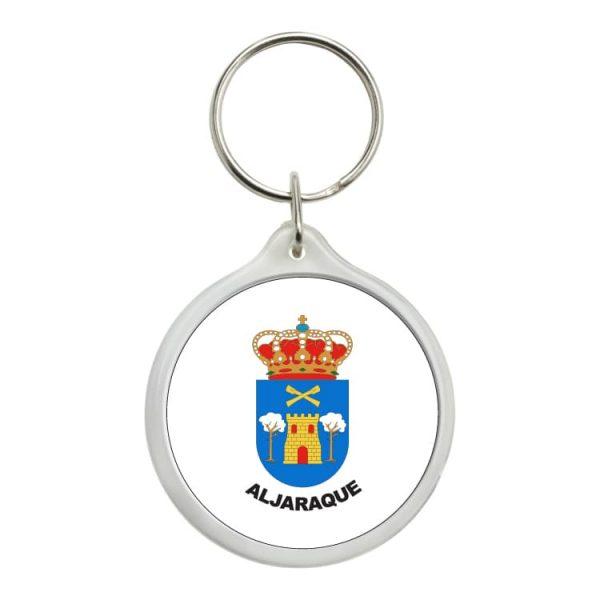 llavero redondo escudo heraldico aljaraque