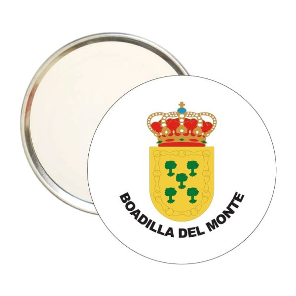 espejo redondo escudo heraldico boadilla del monte