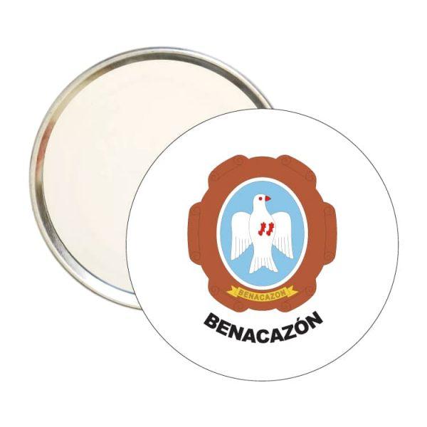 espejo redondo escudo heraldico benacazon
